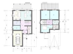 Проект коттеджа 2этажа